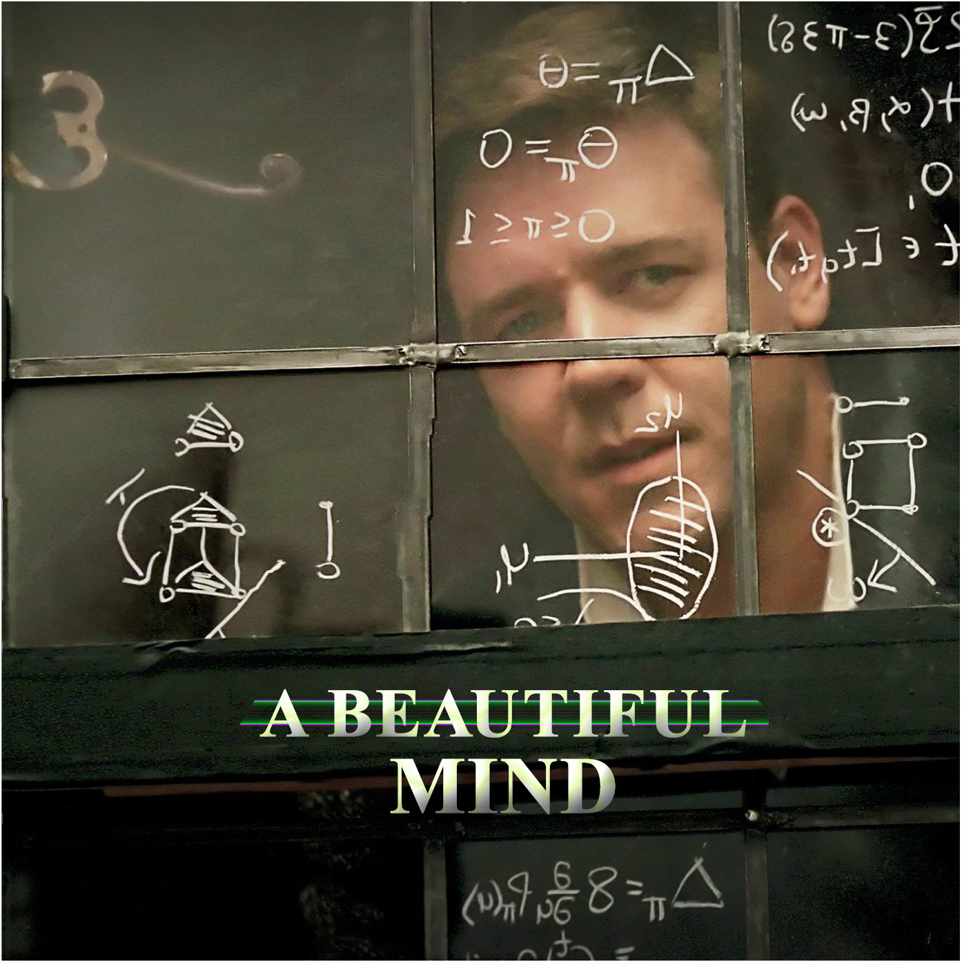 High resolution official theatrical movie poster 1 of 2 for A Beautiful Mind 2001  IMP Awards  2001 Movie Poster Gallery  A Beautiful Mind Poster