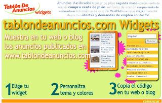 widgets de tablon de anuncios