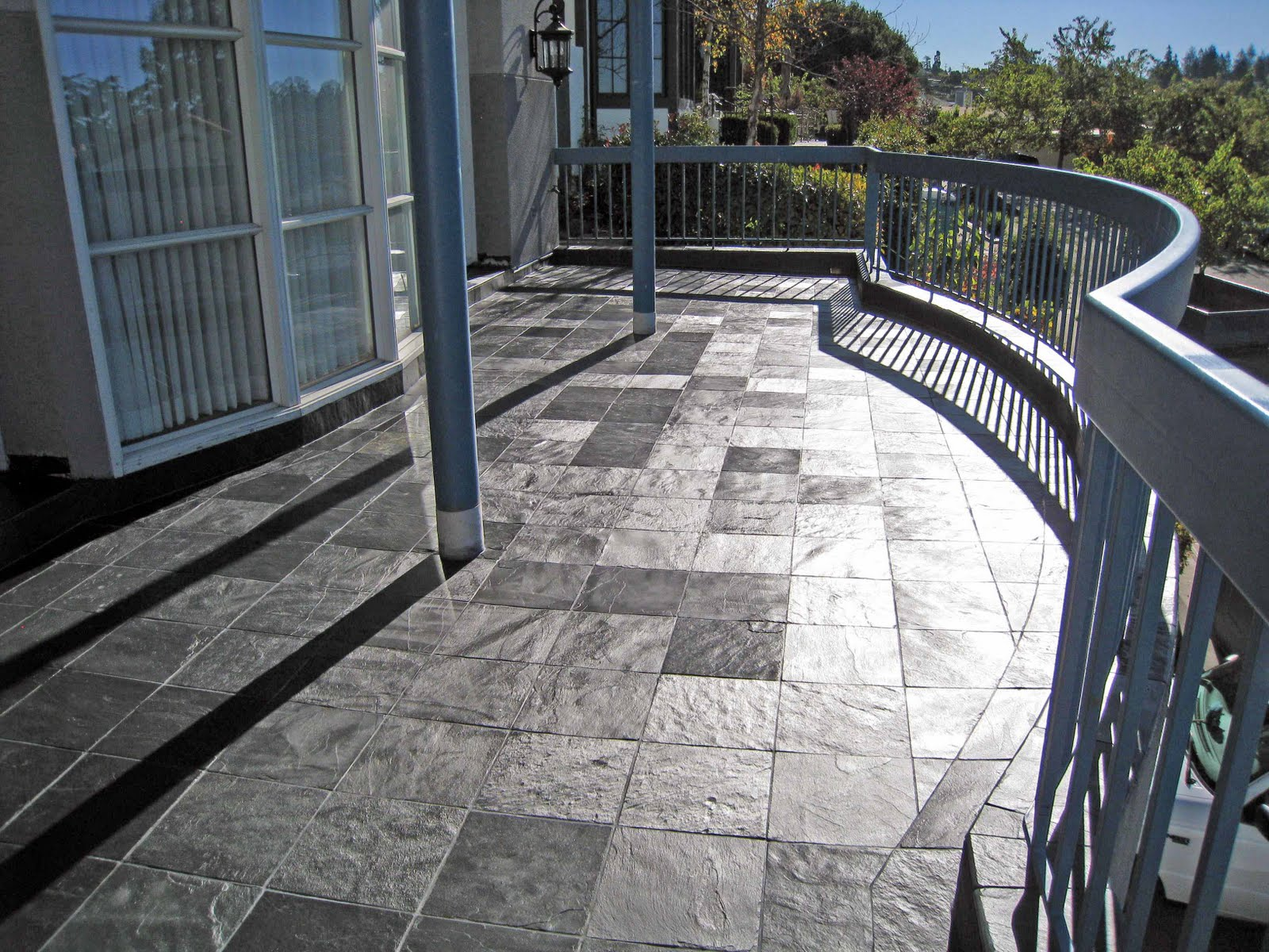 The Duradek Way Porcelain Stone Tile Outdoor Decks Over Living