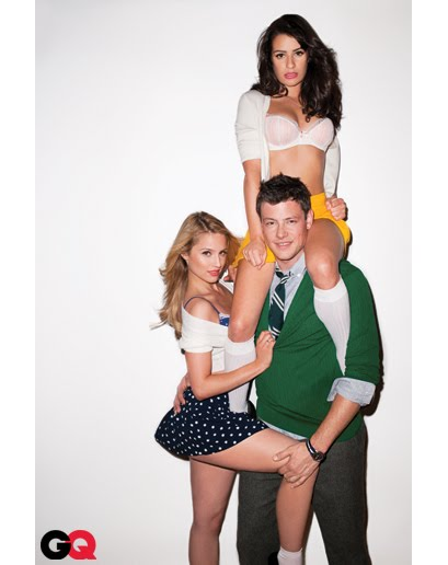 Dianna Agron Lea Michele And Cory Monteith. dianna agron gq photos.