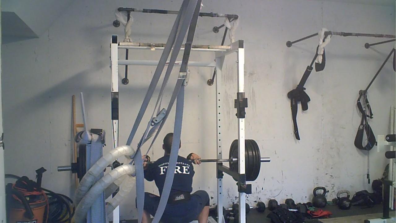 Elgin garage gym wednesday june front squat