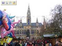 Bécs Wien Austria Ausztria karácsony vásár vicces funny Tannenbaum