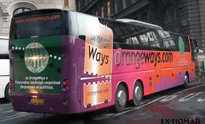 orange ways, orangeways, Ferencváros, Fradi, busz