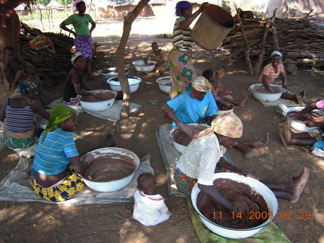 Making shea butter