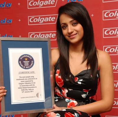 Trisha at Colgate and IDA Guinness World Record Event