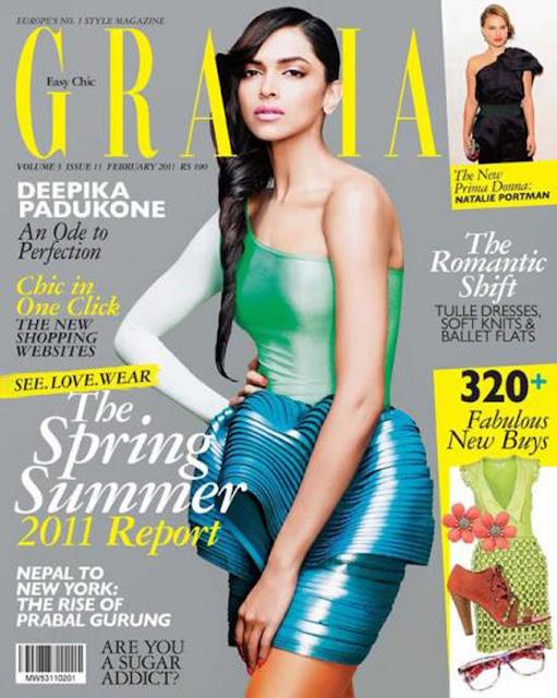 Deepika Padukone on Grazia Magazine Cover - February 2011