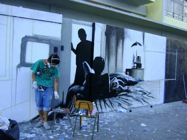 proceso de graffiti sernam en antofagasta, chile izak