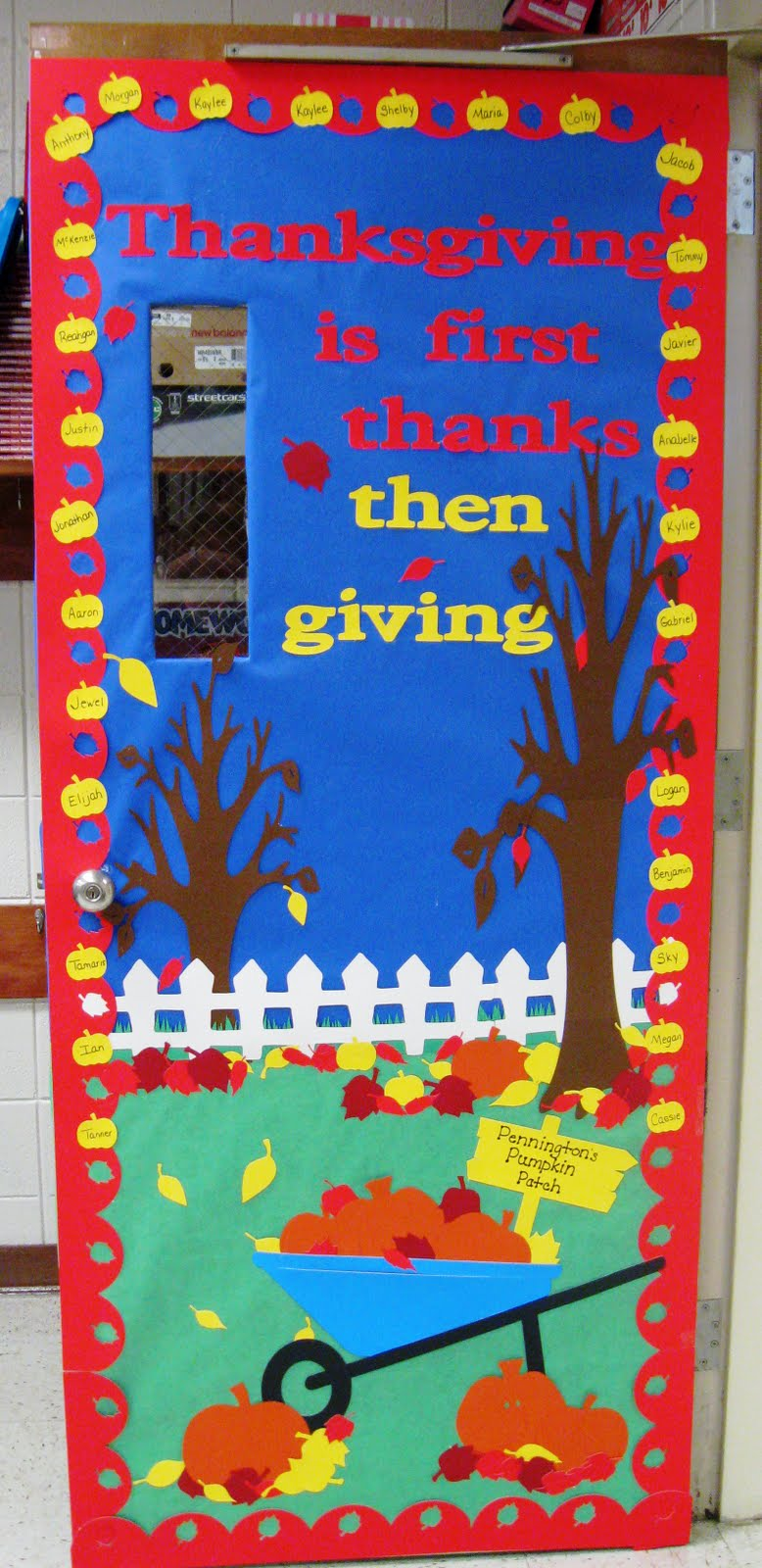 Classroom Door Decoration Ideas For November ~ Daily grace creations th grade classroom door thanksgiving