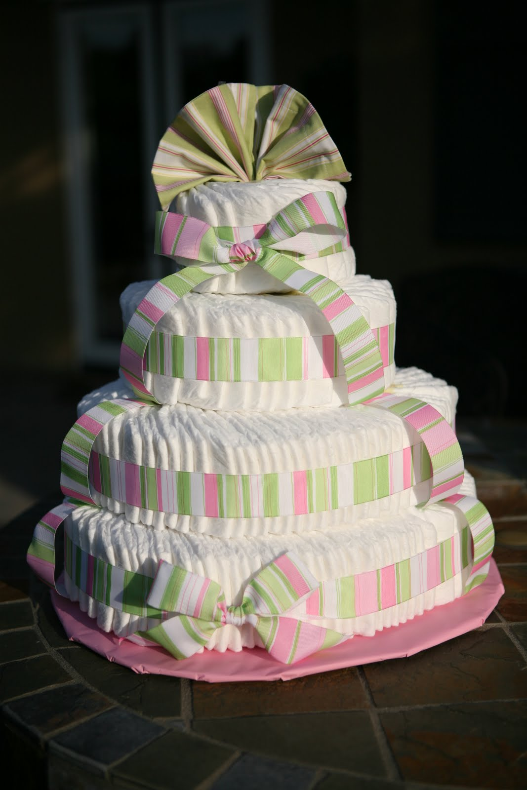 young blossoms diaper cakes, Baby shower