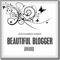 BEAUTIFUL BLOGGER AWARD - Given By Herrad