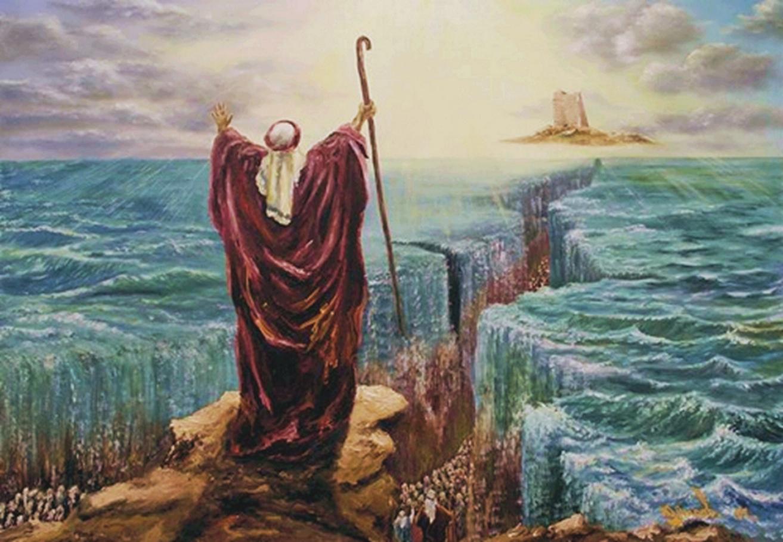 Musa Membelah Lautan Menjadi Dua