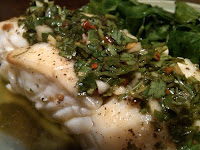 Nutrition as Nature Intended: Grilled Halibut with Chimichurri Sauce