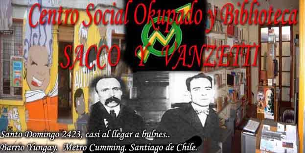 Centro Social Okupado y Biblioteca Sacco y Vanzetti