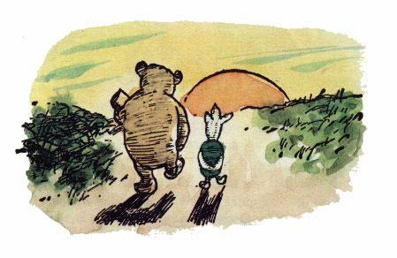 Piglet sidled up to pooh from behind pooh he whispered