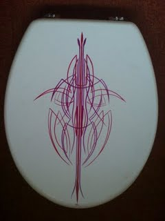 pinstriped toilet seats for sale. email me!