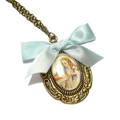 'Alice In Wonderland' necklace by Janine Byrom