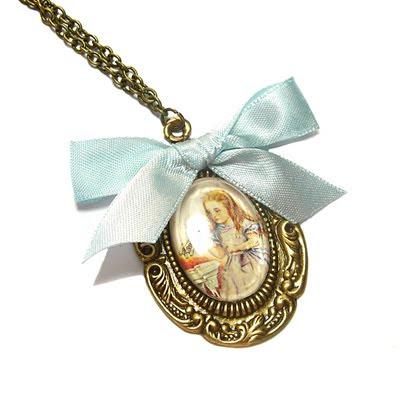 'Alice In Wonderland' necklace by Janine Byrom