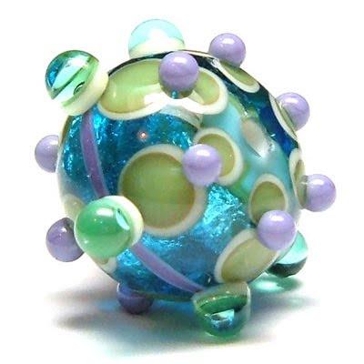Sparkly focal bead