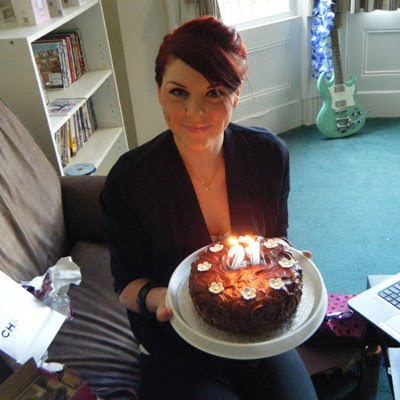 Em with her birthday cake