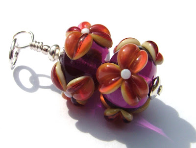 Lampwork Glass Bead Pendant