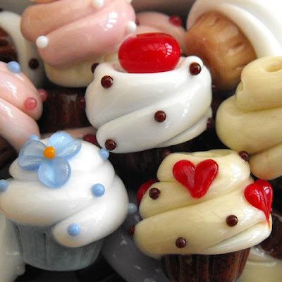 Lmapwork Glass Cupcake Beads