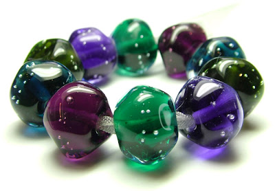 Lampwork Glass Nugget Beads