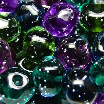 Lampwork Glass Nugget Beads