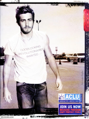 Jake Gyllenhaal, good looking revolutionary, poses for the ACLU