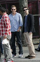Jake and Noah Baumbach in NYC. Wonder what the paps said to earn that look?