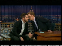 At Jake's invitation, Conan sniffs the beard