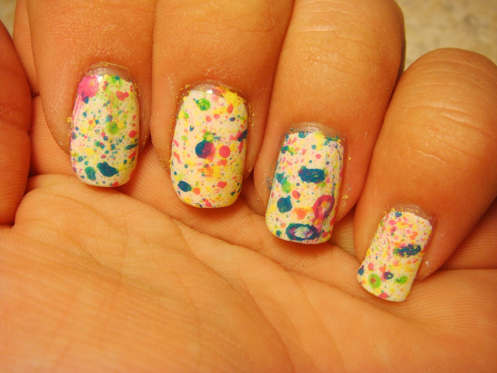 how to get paint splatter nails