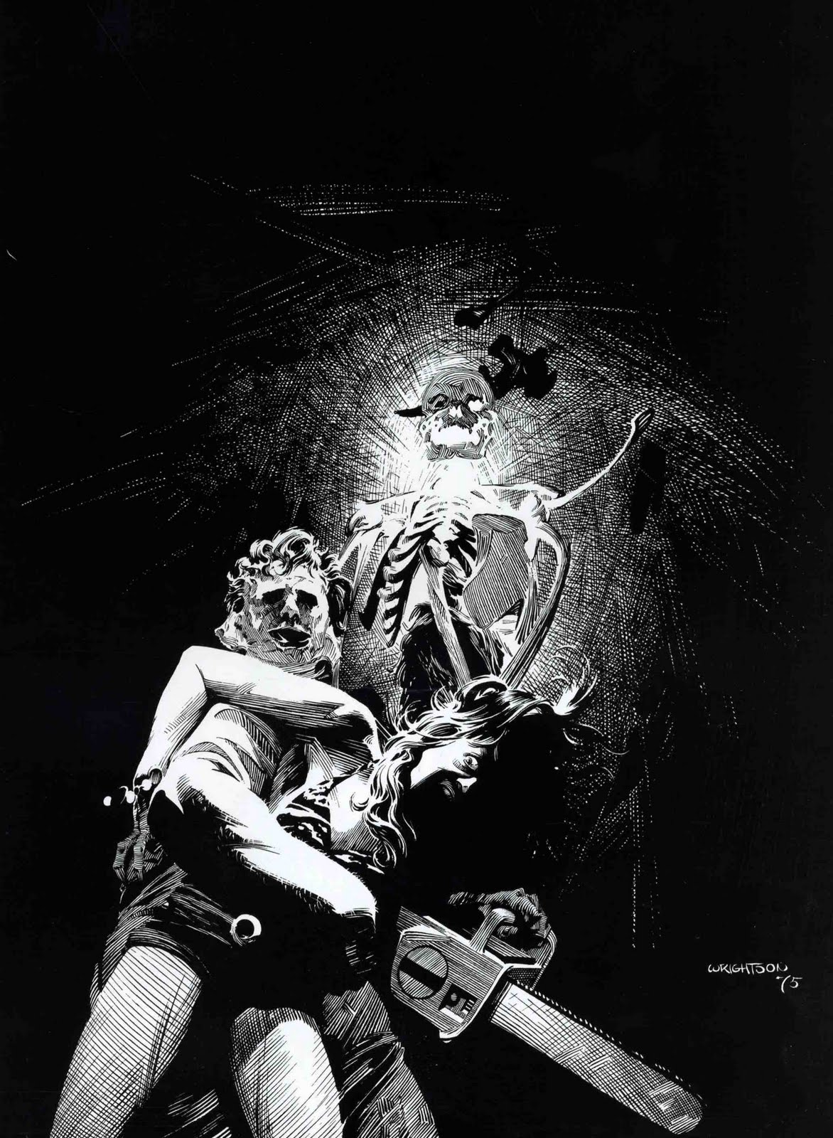 fantasy ink: bernie wrightson: the texas chainsaw massacre