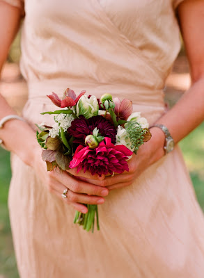 dahlias tulips wedding inspiration