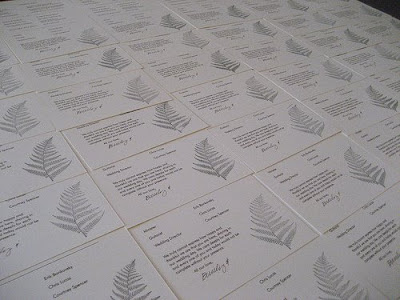 Emily made her wedding programs on simple white paper she found at a craft