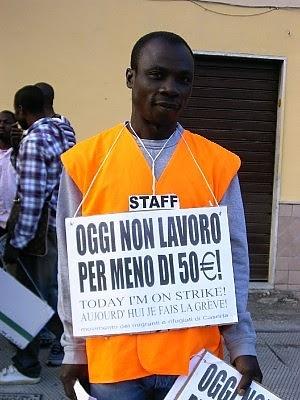 Gli immigrati difendono diritti che agli italiani non for Costo seminterrato di sciopero