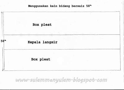 Belajar Menjahit Langsir - Bahagian 1 (Box Pleat)