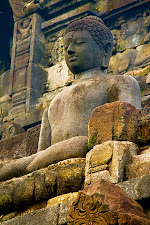 Buddha statue at Borobudur Temple, Java, Indonesia © Matt Prater