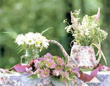 Blumenpflücken  am Wegrand...