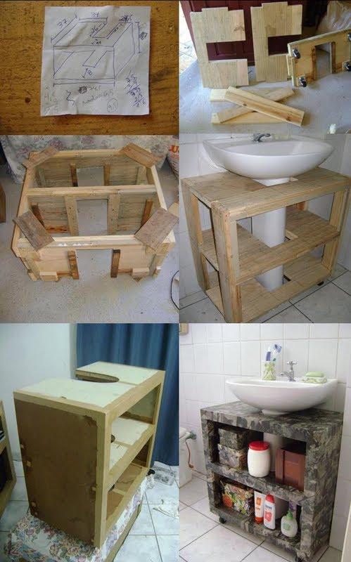 Casa Para Casar Idéias para banheiros pequenos!!!! -> Ideias Baratas Para Armario De Banheiro