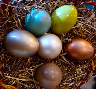 photo of some easter eggs in a basket