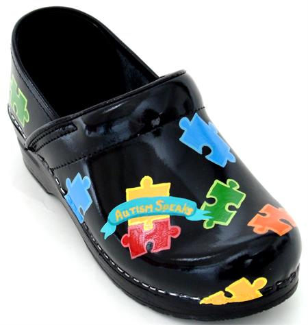 Autism Theme Clogs