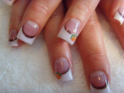 Stylish manicure new trend nail art manicure with decorations French nails double French manicure decorated nails classic French manicure