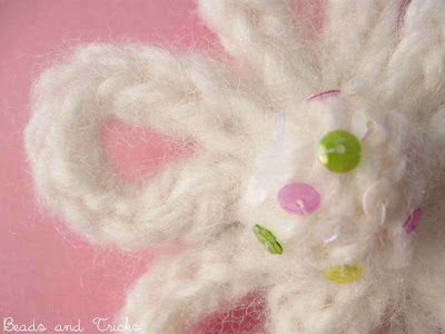 spilla lana fiore
