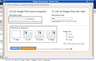 Memasukkan Gambar Ke Postingan Blog Blogger