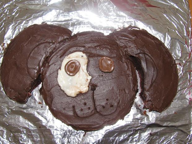 Dog Shaped Birthday Cakes