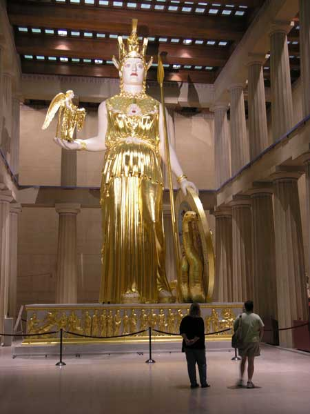 The Parthenon The Parthenon stands proudly as the centerpiece of Centennial Park Nashvilles premier urban park The recreation of the 42foot statue Athena is the focus of the Parthenon just as it was in ancient Greece