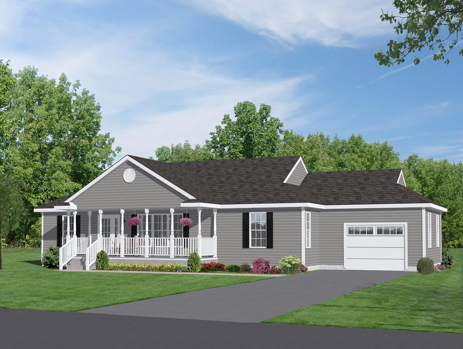 American Bungalow Style Home likewise RanchCapefloorplans in addition Houseplan055D 0171 moreover Tuscan House Plans likewise Bungalow Home Plans. on 1 story 4 bedroom ranch style homes plans