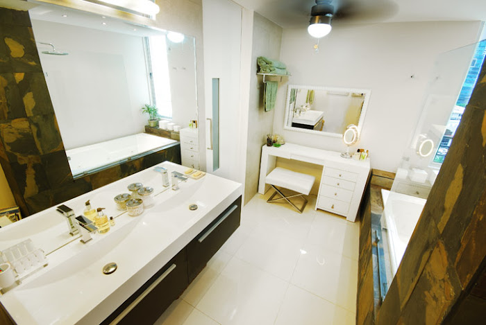 Main bathroom. Custom-made  furniture