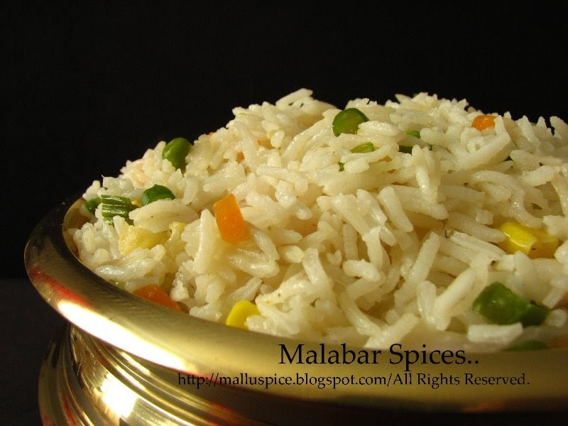 Malabar Spices...: Vegetable Pulav/ Pilaf/ Pulao...