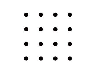 Unir 16 puntos con 6 rectas